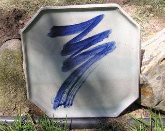 Plate - Octagonal ceramic serving platter