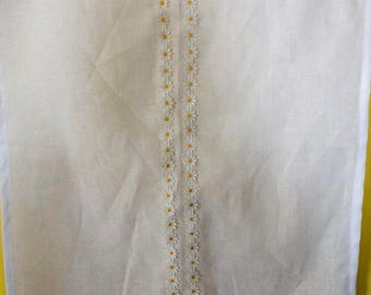 Window Curtains, Kitchen Curtains,  Cafe curtains, Linen Cafe Curtains , White Linen Curtains