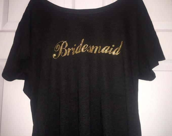 Bridesmaid oversized shirt. Bridesmaid tee shirt. Wedding shirts . Bridal party shirt. Bridesmaid dolman sleeve t-shirt. Weddings .