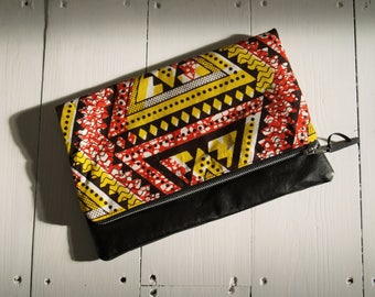 Ankara Clutch Purse with faux leather