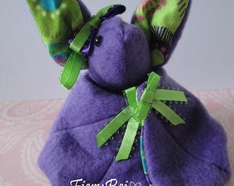 Purple Bat with Green Accents, Bat Plush, Purple Bat, Cute Bat