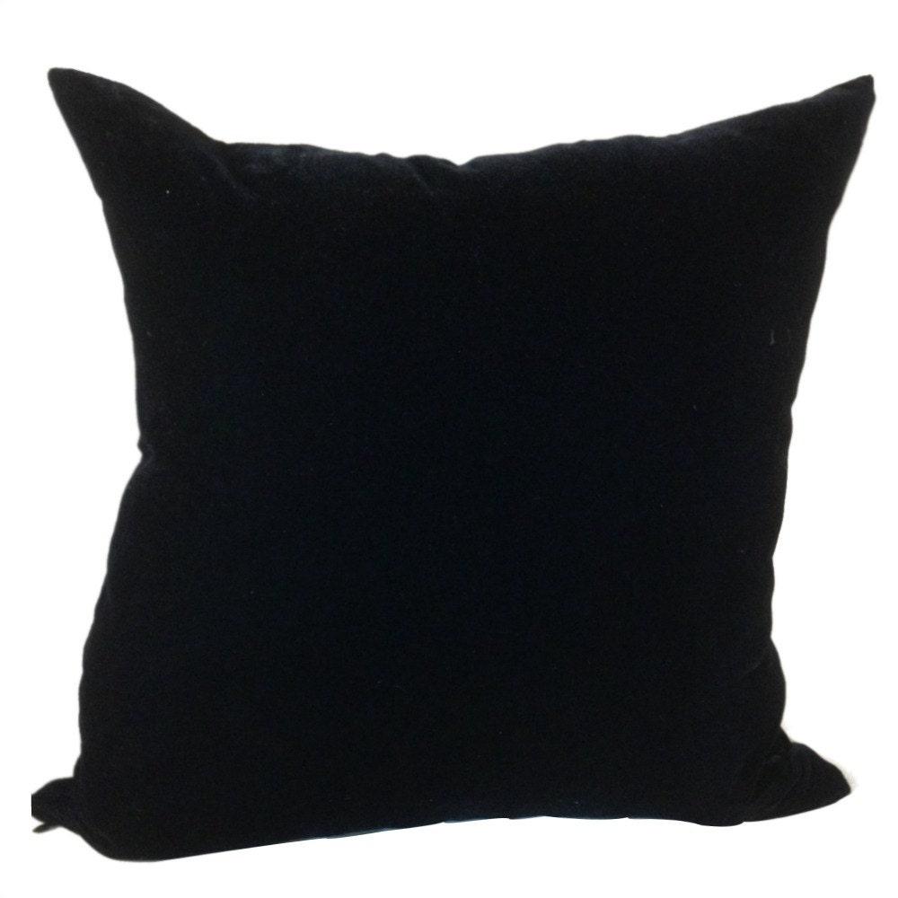 Black Velvet Pillow Cover Velvet Sofa Pillow 18 inches 18