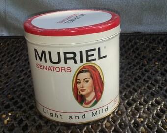 Vintage Muriel  Senators Cigar Tin
