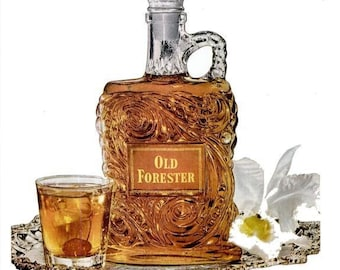 1952 Old Forester Kentucky Bourbon Whiskey Advertisement Print Poster Ad Bar Pub Tavern Bartender Wall Art Home Decor