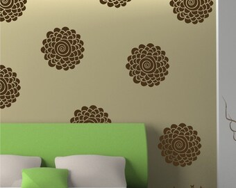 Blooms 10 Graphics Set - Vinyl Wall Decals Stickers Patterns, Flowers patterns wall decal sticker