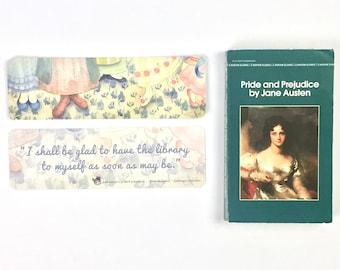 ORGUEIL et préjugés, marque-page fée pieds bennet sœurs livresques austen art