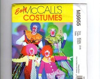 McCalls m5955, COSTUME Pattern, clown costume, hobo costume, jester costume , sewing pattern, size 3, 4, 5, 6,7,8