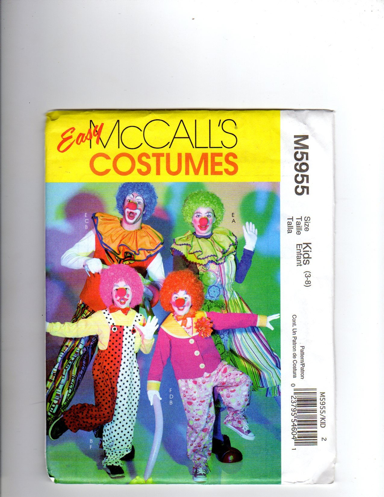 McCalls m5955 Kostüm Clown-Kostüm Hobo-Kostüm Kostüm