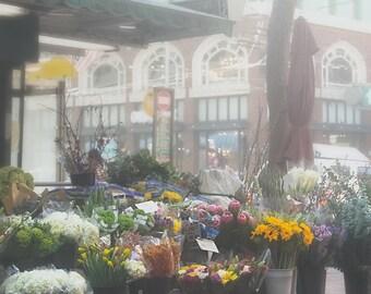 Blumengeschäft, San Francisco Fotografie, Blumen Markt Foto, Kalifornien, große Wandkunst, San Francisco Straßen, SF-Dekor, Blumen,