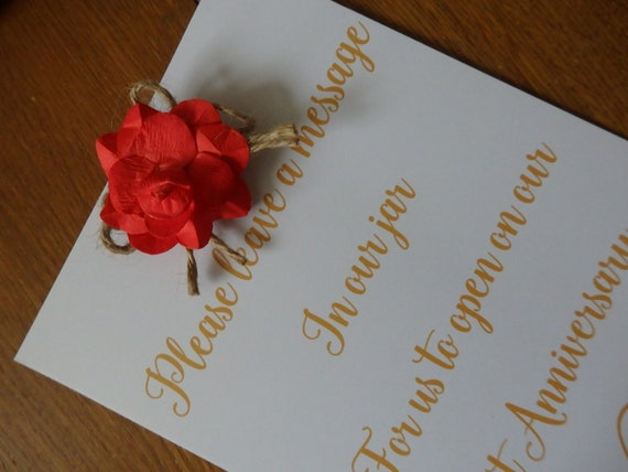 Rustic message in a bottle wedding guest book guest book