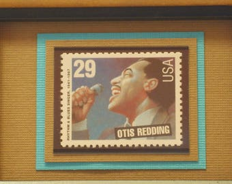 Legends of American Music - Vintage Framed Stamp - Otis Redding - No. 2728
