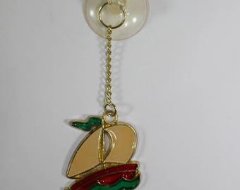 Vintage 1970's Sun Catcher Suncatcher Ornament Metal Sail Boat Mini Gift NOS