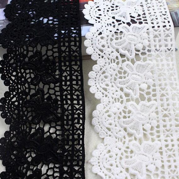 Fuentes de 2 yarda blanca venise hueco un cordón de crochet trim ...