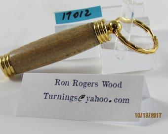 Hand Turned Pill Box Key Ring-Padauk Wood  #17012 secret compartment key ring for money...