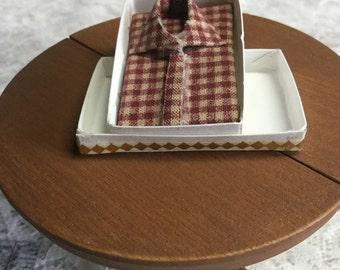 Women's Red Plaid Shirt/Blouse # 11 Dollhouse Miniature