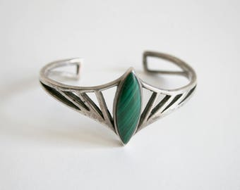 Mexican Malachite Sterling Bracelet