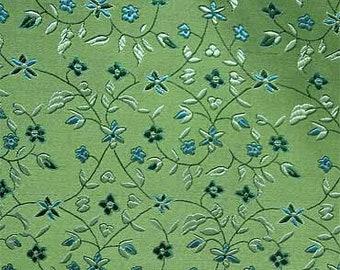 Green Chinese brocade coupon fabric