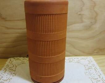 Vintage Terracotta Wine & Champagne Cooler With Coaster