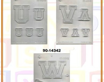 Collegiate Letters Chocolate Molds (F)