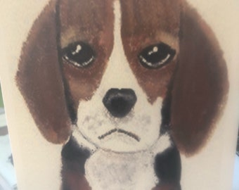 Beagle Puppy Notecards (set of 6 folded cards with envelopes in a clear box)