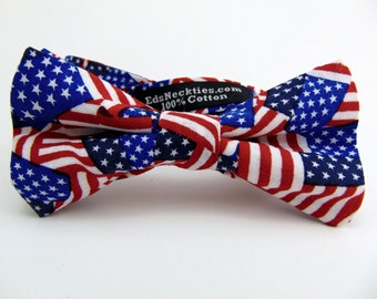 4th of July Bow Tie, 4th of July Bowtie, Mens Bow Tie, Mens Bowtie, American Flag, Independence Day, Wedding, Bridal, Father, Birthday, Gift