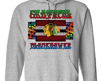 Chicago Blackhawks Grateful Dead Hoodie, Blackhawks Deadhead Sweatshirt, Hawks Grateful Dead Hoodie