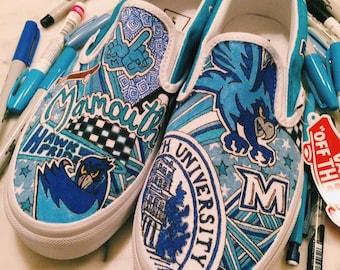 Monmouth University Custom Sneakers