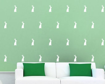 Bunny Wall Decal / Rabbit Decal / 54 Bunnies, 90 Bunnies decal / Kids wall decoration /  baby room decal / Happy Easter
