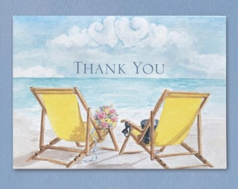 Beach Wedding Thank You Cards (Pack of 50)