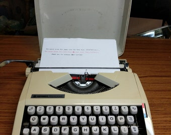 1975 Hermes Rocket ultra portable typewriter with case