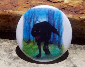 CWA Big Bad Wolf 1 inch Button