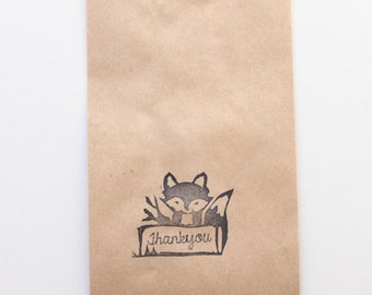 Woodland fox LOLLY BUFFET bags, lolly bags, treat bags, loot bags, paper lolly buffet bag, candy buffet bags x 10