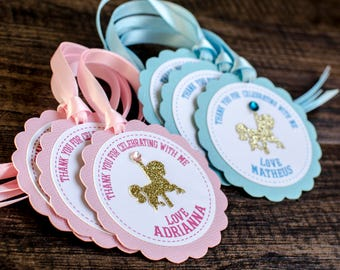 Carousel favor tags, custom made, horse favor tags
