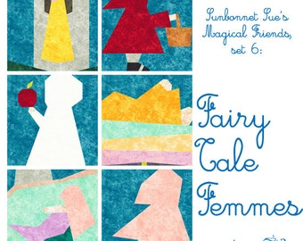 Fairy Tale Femmes, 6 Blocks to Paper Piece PDF