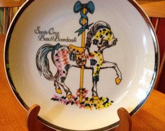 Nice Souvenir Ceramic Plate from Santa Cruz Beach Boardwalk