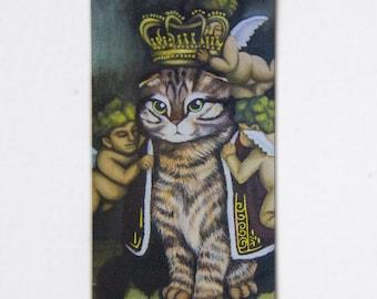 Fine Art Magnet - Queen Frank Majestic Royal Cat Acrylic on Canvas Art by Breanna Deis