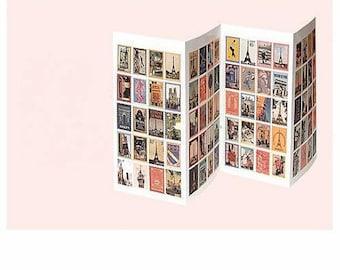 "80 stickers, stickers, stamps, ""memories of travel"" spirit retro vintage 25 * 20mm"
