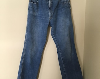 "RARE! Vintage 1980s Ely Scrambler jeans with western detailing! Rockabilly/VLV 30"" waist"