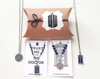 Doctor Who Gift, Doctor Who Necklace,Tardis Necklace,Doctor Who Jewelry,Dr Who Pendant,Dr Who,Dr Who Gifts,Dr Who Necklace,Dr Who Jewelry