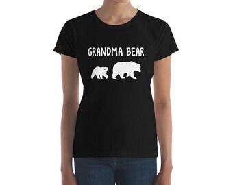 Grandma Bear And Cub - Grandmother of One - Mama Women's short sleeve t-shirt