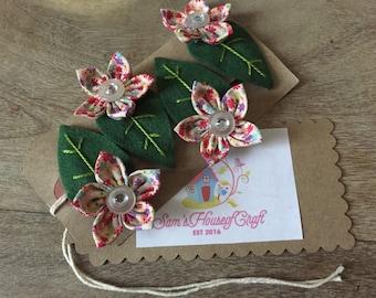 Set of 4 Everlasting flower hair clips, hair, girls hair clips, hair accessories, spring flowers hair clips