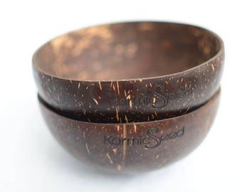 Handmade Coconut Bowls Set of 2