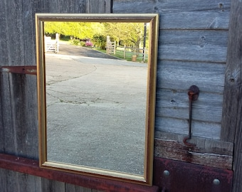 Heavy Vintage Retro Gilt Frame Mirror.