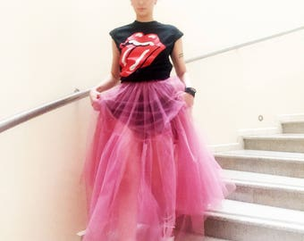 Maxi Tulle Skirt/ Party Tulle Skirt/ Coctail Long Soft Luxury/ Prom Skirt/ Bridesmaids Skirt