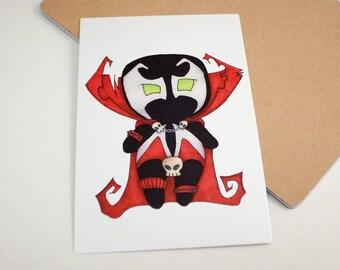 Mini Spawn - 4x6 Print [ Image Comics  / Fan Art / Chibi ]