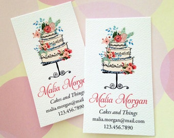 Personalized Business Cards, Custom Business Cards, Bakery Business Card, Set of 50