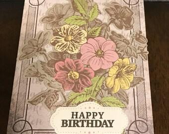 Handmade Set of 2 Birthday Greeting Cards with Envelopes Blank Inside