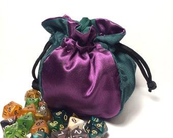Purple Silk Dice Bag - Dungeons & Dragons