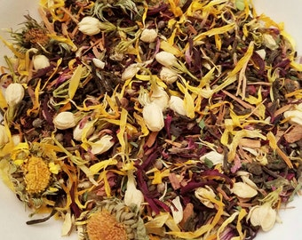 Cinderella - Organic Tea, Herbal Tea, Female Tea, Vitex Chaste Berry, Catuaba, Hibiscus, Pu'erh, Vegan