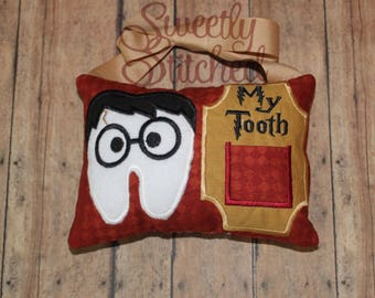 Boy Wizard Toothfairy Pillow